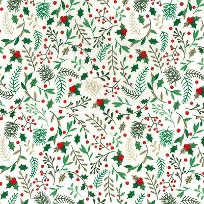 Cotton print - Mistletoe Ivory