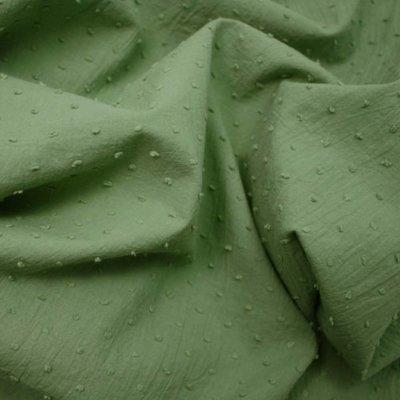 Cotton voile fabric - Plumetis Khaki