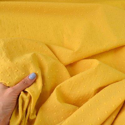 Cotton voile fabric - Plumetis Ocre