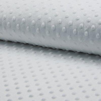 Cuddle Minky Dot Fleece Fabric - Optical White