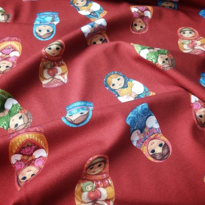 Digital print Jersey - Matryoshka Red