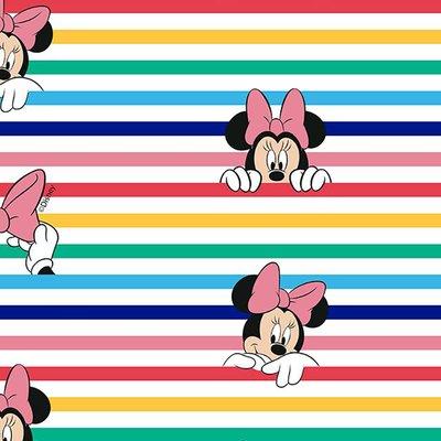 Digital printed cotton - Minnie Stripes