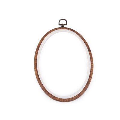 Embroidery oval frame  - 16.5 x 23 cm