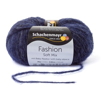 Fashion Soft Mix Yarn - Indigo 00050