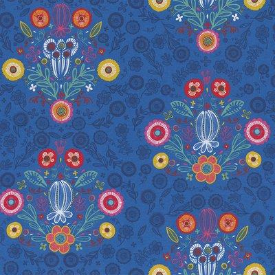 Home Decor Fabric - Folklore Baroc Saphire