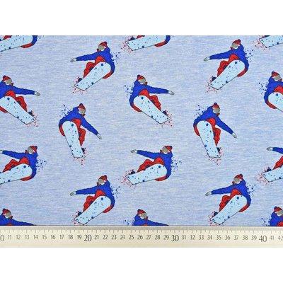 Jerse Sweat Melange - Snowboarders Blue