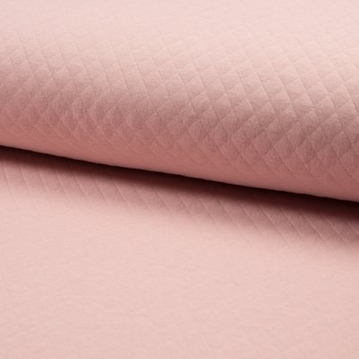 Quilted Jersey Cotton Diamond - Rose