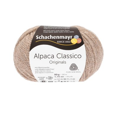 Knitting Yarn - Alpaca Classico - Sand Melange 00005