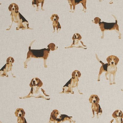 Line look canvas - Cute Beagles