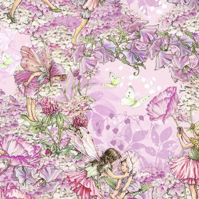 Designer print Michael Miller - Petal Flower Fairies Pink