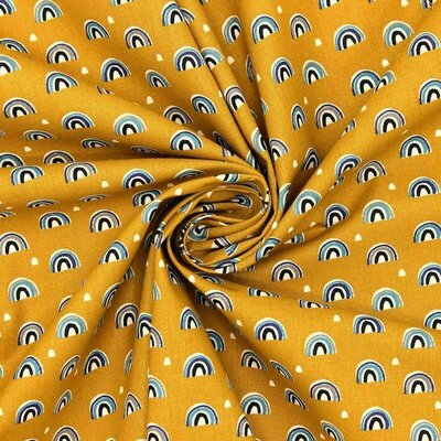 Printed cotton -Arcol Ochre
