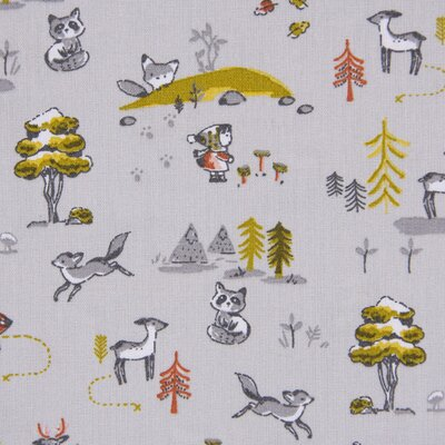 Printed Cotton - Forest Living Grey
