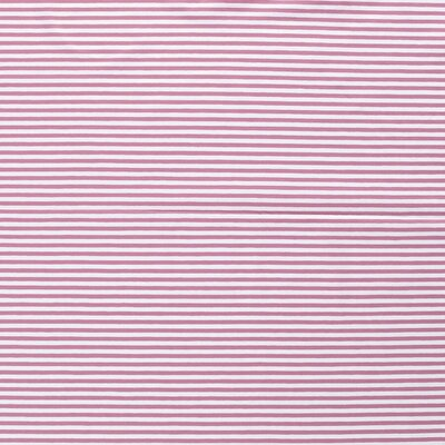 Printed Cotton Jersey - Stripes  Old Pink5mm
