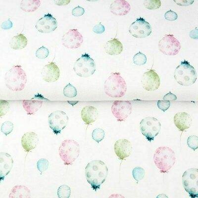 Printed Cotton poplin - Pastel Balloons