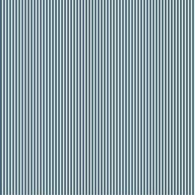 Printed Cotton poplin - Petit Stripe Blue