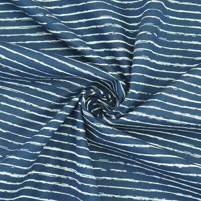 Printed Poplin Stripe Jeans