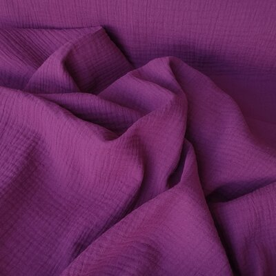 Solid Double Gauze - Purple