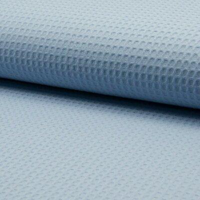 Waffle Cotton Fabric Dusty Blue
