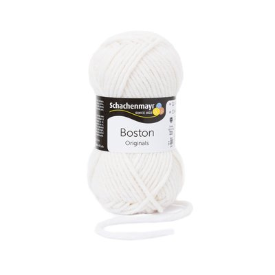 Wool blend yarn Boston-White 00101