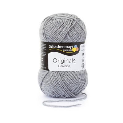 Wool blend yarn Universa  - Light Grey Heather 00190