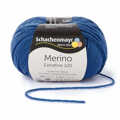 Wool yarn - Merino Extrafine 120 Jeans 00154