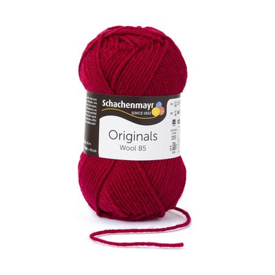 Wool Yarn Wool85 - Burgundy 00232