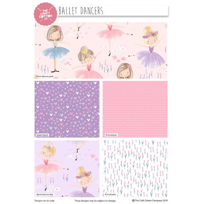 Ballet Dancers - Set Fat Quarters