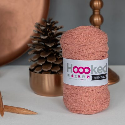 Banda pentru tricotat - Ribbon XL Lurex Rose Gold