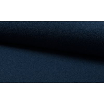 Boiled Wool Fabric - Dark Petrol