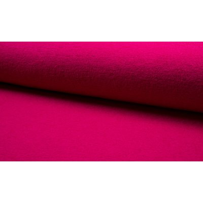 Boiled Wool Fabric - Fuchsia