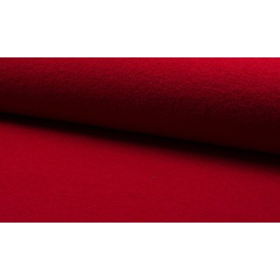 Boiled Wool Fabric - Red