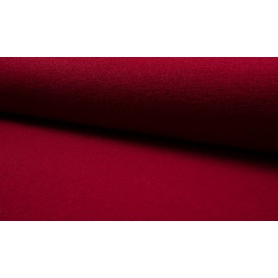 Boiled Wool Fabric - Wine