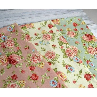 Bumbac Canvas-Vintage Floral Green