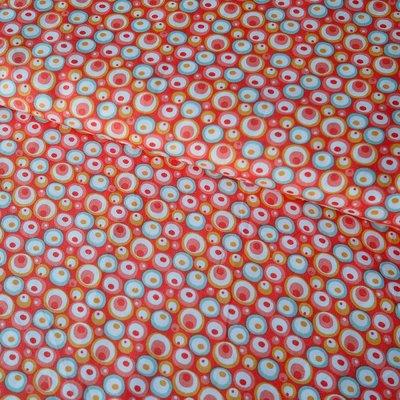 Bumbac imprimat - Bubbles Coral