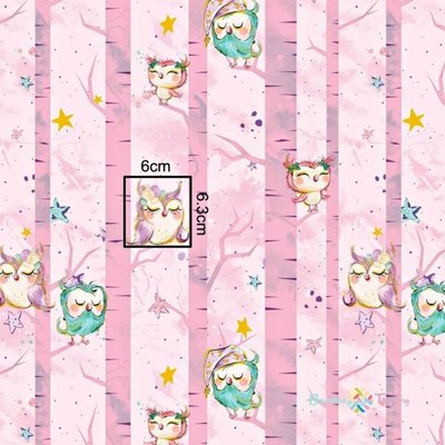 bumbac-imprimat-cu-auriu-sleepy-owls-pink-17359-2.jpeg
