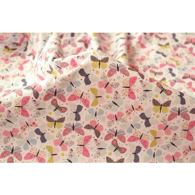 Bumbac imprimat digital - Butterfly Pink