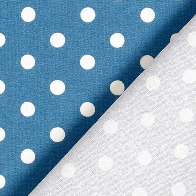 Bumbac imprimat - Dots Denim Blue
