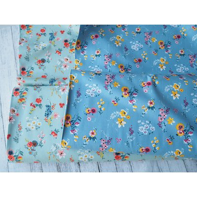 Bumbac imprimat - Flowery Blue
