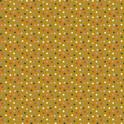 Bumbac imprimat - Happy Feeling Dots Ochre
