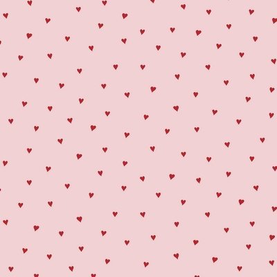 Bumbac imprimat - Heart Pink/Red