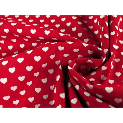 Bumbac Imprimat - Hearts Red