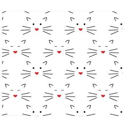 Bumbac Imprimat - Love Story Cats