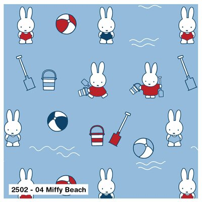 Bumbac Imprimat -  Miffy Beach