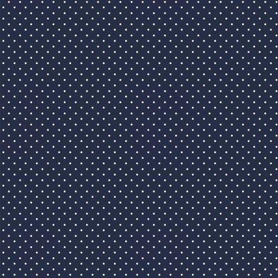 Bumbac imprimat - Petit Dot Navy