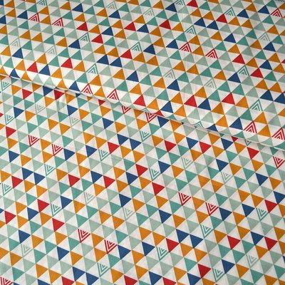 Bumbac Imprimat - Triangles Modern