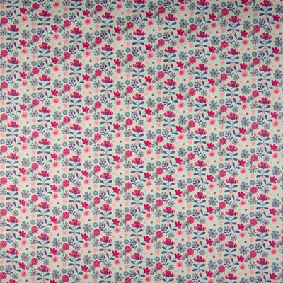 Bumbac organic imprimat - Flower Dusty Mint