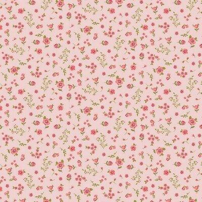 Bumbac organic imprimat - Flower Rose
