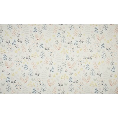 Bumbac organic imprimat - Flowers Off White