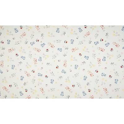 Bumbac organic imprimat - Small Flowers Ivory