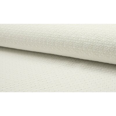 Bumbac subtire cu broderie - Squares Ivory